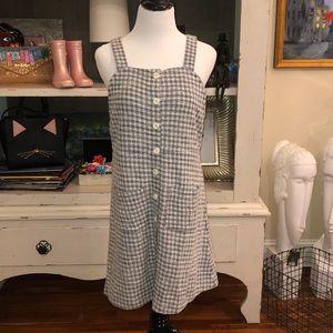 Madewell RARE SAMPLE Gingham Overall Dress M EUC